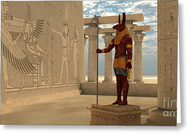 Egyptian God Seth Greeting Card