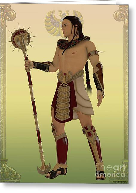 Egyptian Guard Greeting Card by Corey Ford