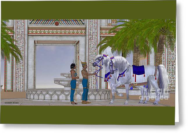 Egyptian Horses Greeting Card by Corey Ford