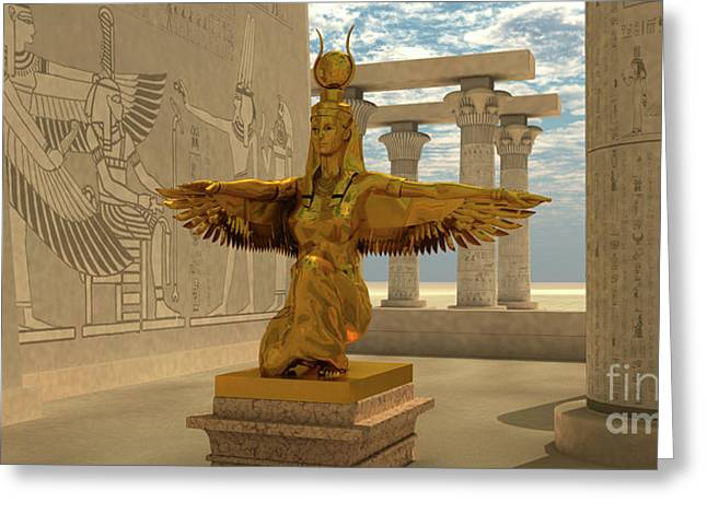 Egyptian Isis Statue Greeting Card