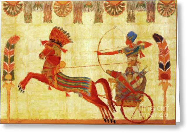 Egyptian Majesty Greeting Card by Sarah Kirk