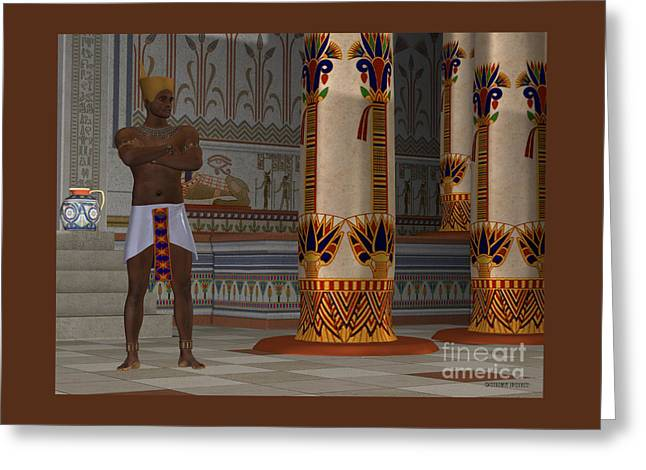 Egyptian Man In Palace Greeting Card by Corey Ford