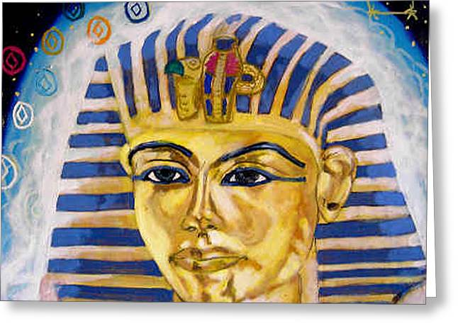 Incarnation Paintings Greeting Cards - Egyptian Mysteries Greeting Card by Morten Bonnet