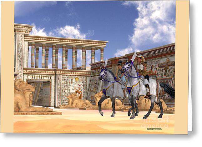 Egyptian Nobility On Horseback Greeting Card by Corey Ford