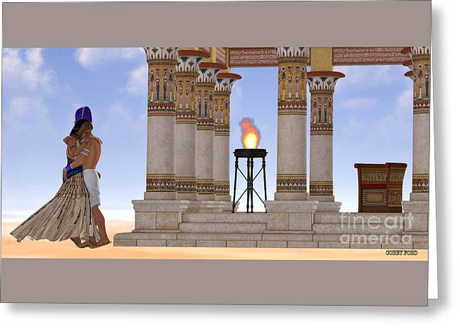 Egyptian Pharaoh And Queen Greeting Card by Corey Ford