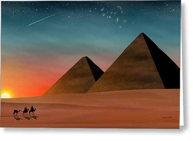 Egyptian Pyramids Greeting Card
