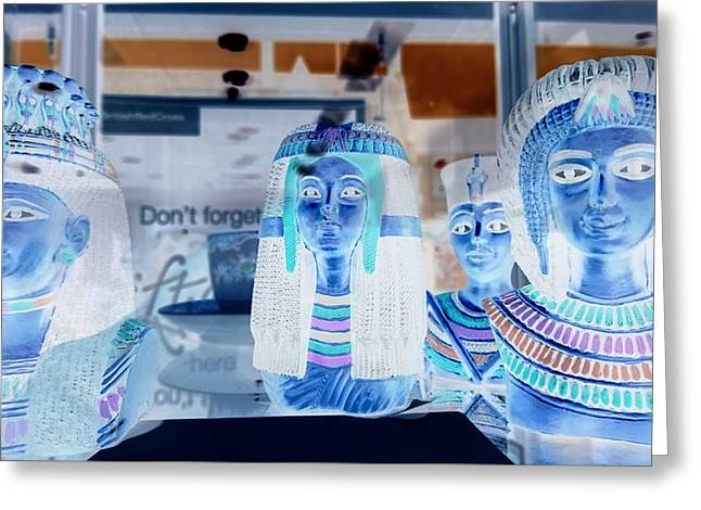 Egyptian Statues Greeting Card