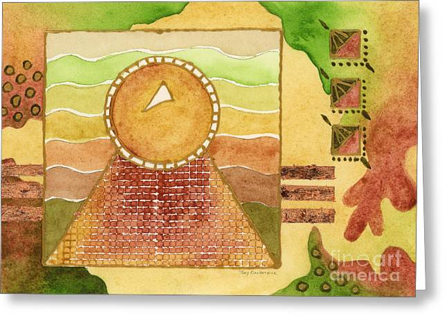 Egyptian Sun I Greeting Card by Amy Kirkpatrick