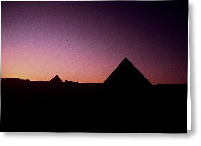 Greeting Card featuring the photograph Egyptian Sunset by Gary Wonning