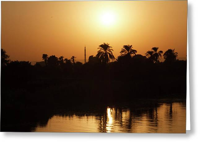 Greeting Card featuring the photograph Egyptian Sunset by Silvia Bruno