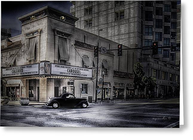 Egyptian Theater Boise Idaho_hdr Greeting Card by Michael Rankin