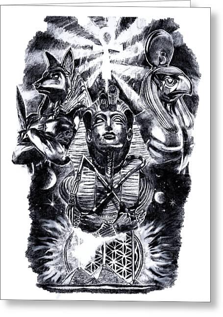 Egyptians Deities Greeting Card