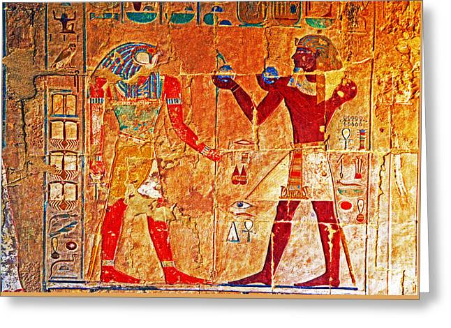 Egyptology Greeting Card by Dennis Cox WorldViews