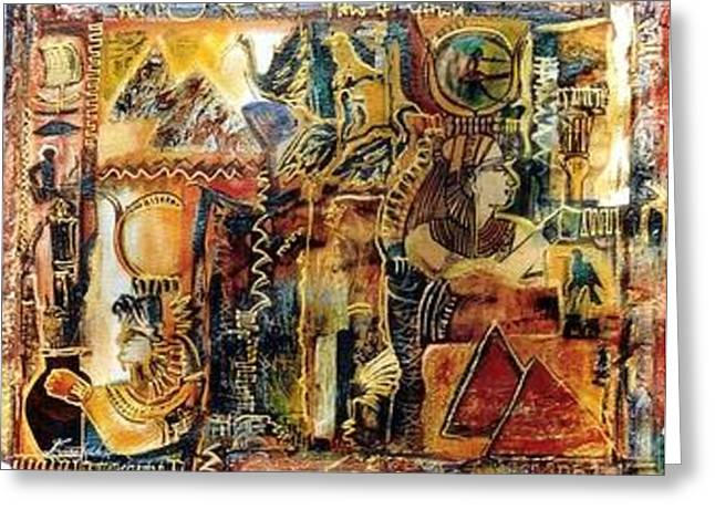 Egytian Quest Greeting Card by Estelle Hartley