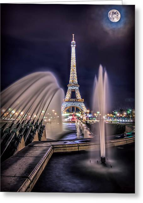 Eiffel And The Fountain Greeting Card