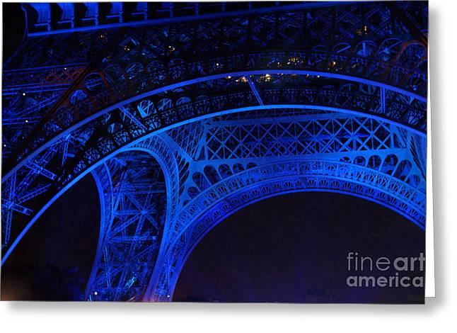 Eiffel Blue Greeting Card