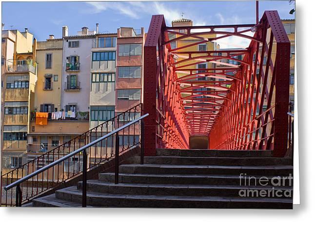 Eiffel Bridge Of Girona Greeting Card by Anastasy Yarmolovich
