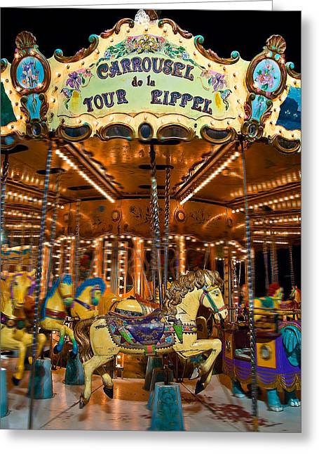 Eiffel Carrousel Greeting Card