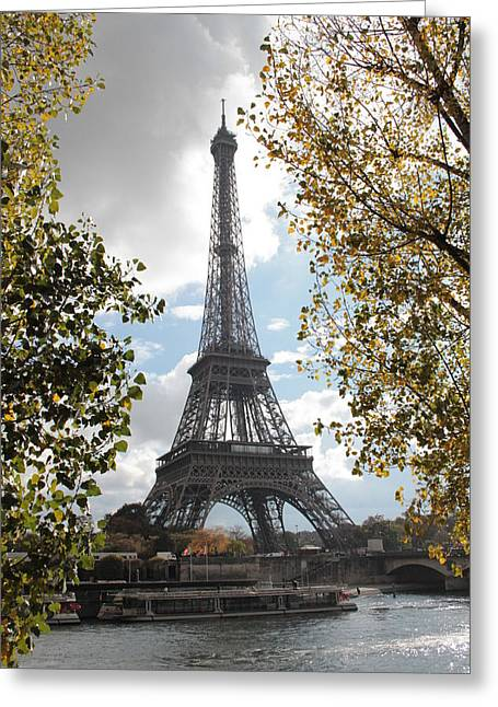 Greeting Card featuring the photograph Eiffel From Avenue De New York by Christopher Kirby