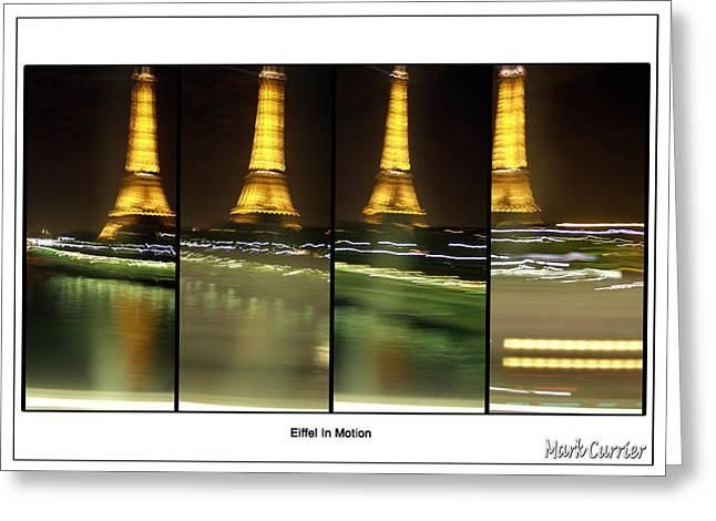 Eiffel In Motion Series Greeting Card