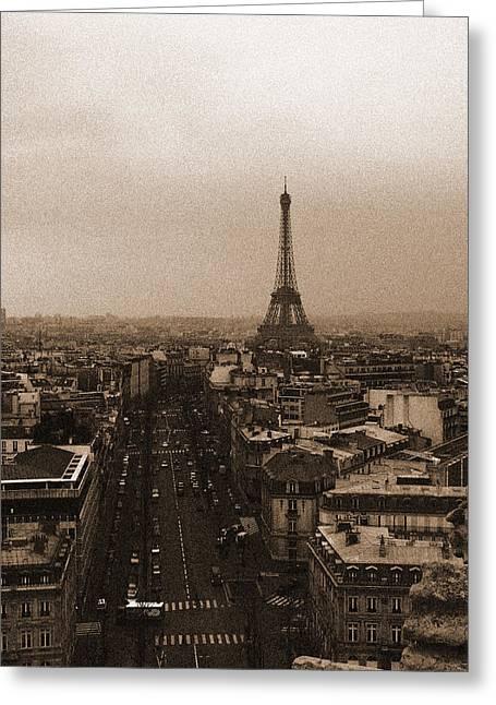 Eiffel In The Neighborhood Greeting Card