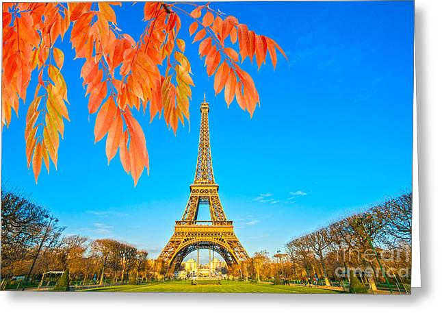 Eiffel - Paris Greeting Card by Luciano Mortula
