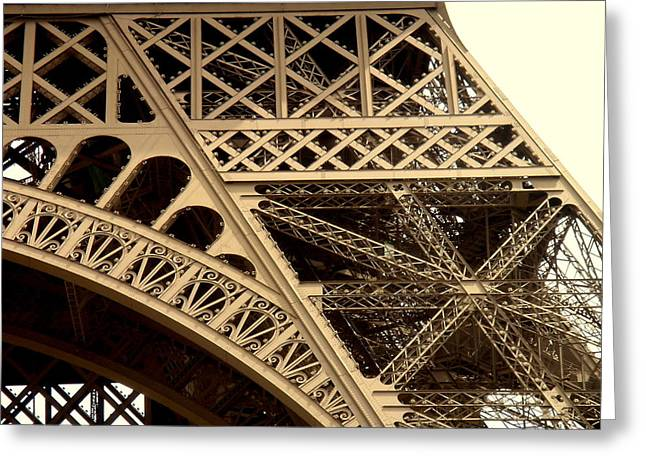 Eiffel Structure 2 Greeting Card by John Julio