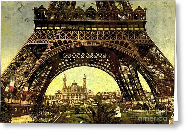 Eiffel Tower 1900 Greeting Card