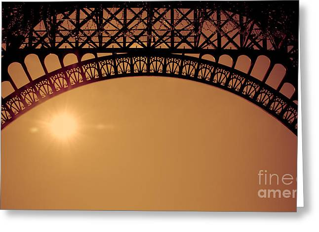 Eiffel Tower Arch Asian Style Greeting Card