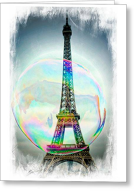 Eiffel Tower Bubble Greeting Card