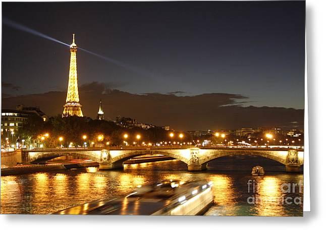 Eiffel Tower By Night Greeting Card