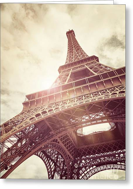 Eiffel Tower In Sunlight Greeting Card by Jane Rix