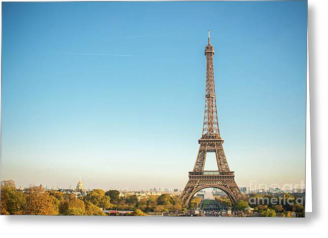 Eiffel Tower In The Sun Greeting Card