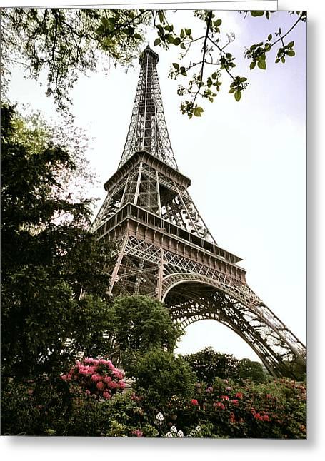 Eiffel Tower Greeting Card by Joe Bonita