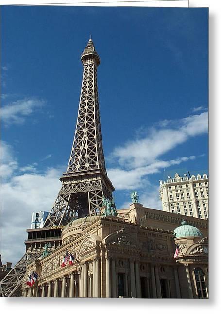 Eiffel Tower Las Vegas Nevada Greeting Card by Alan Espasandin