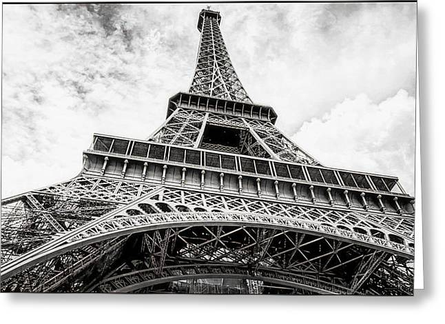 Eiffel Tower, Paris, Black And White Greeting Card