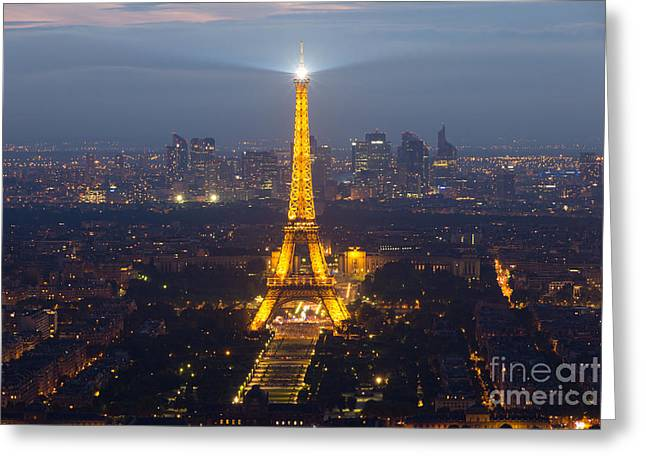 Eiffel Tower, Paris, France Greeting Card by VDW Images