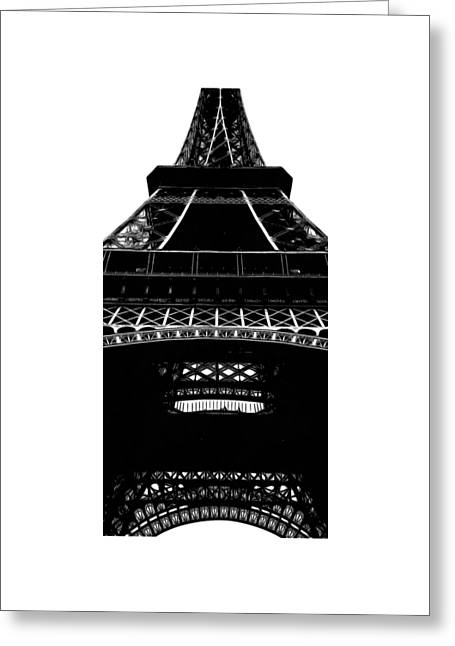 Eiffel Tower Paris Graphic Phone Case Greeting Card by Edward Fielding