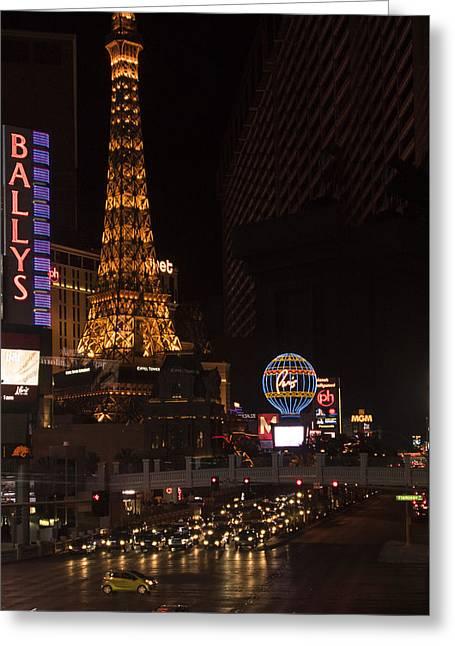 Eiffel Tower - Paris Hotel - Las Vegas Nevada Greeting Card