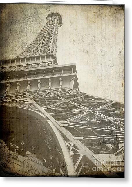 Eiffel Tower Paris Rough Greeting Card