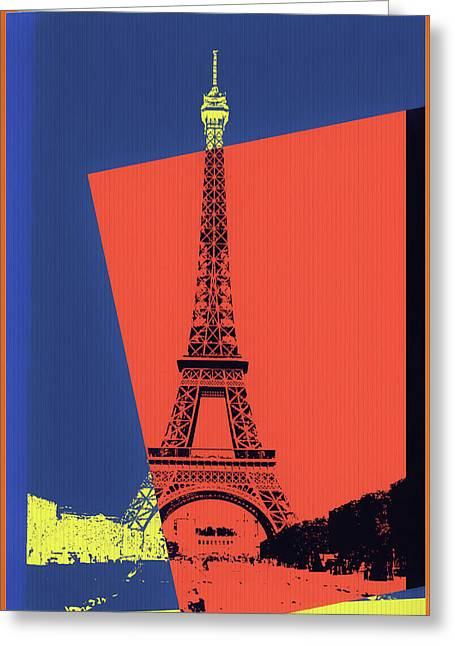 Eiffel Tower Pop Art Greeting Card