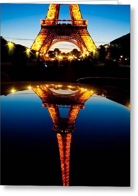 Eiffel Tower Reflection Greeting Card