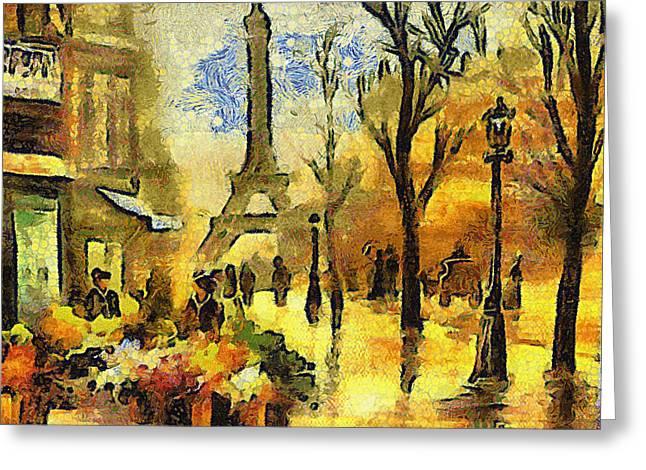 Eiffel Tower Greeting Card by Galeria Zullian  Trompiz