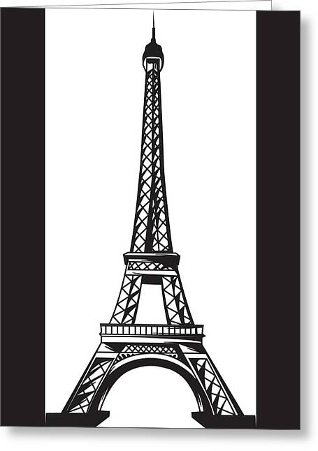 Eiffel Tower Up Greeting Card by Stanley Mathis