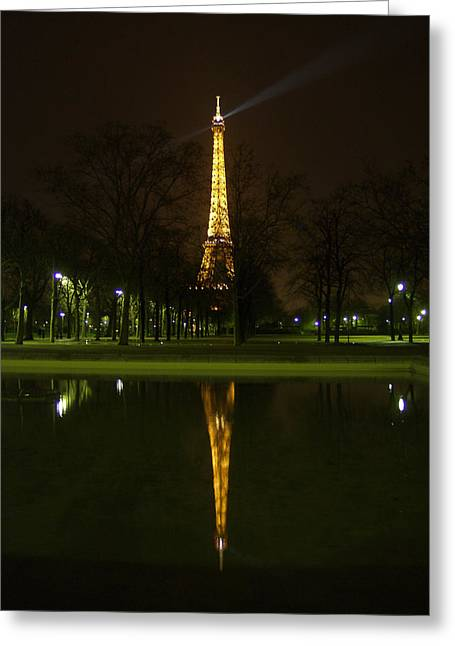 Eiffel Twin Reflection Greeting Card
