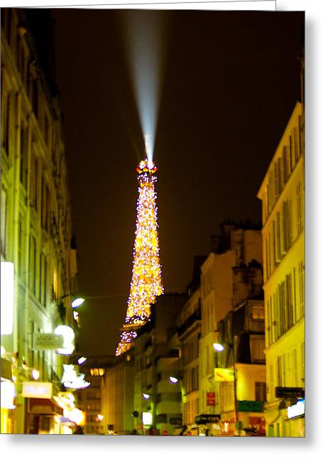 Eiffel Twinkle Greeting Card by Mark Currier