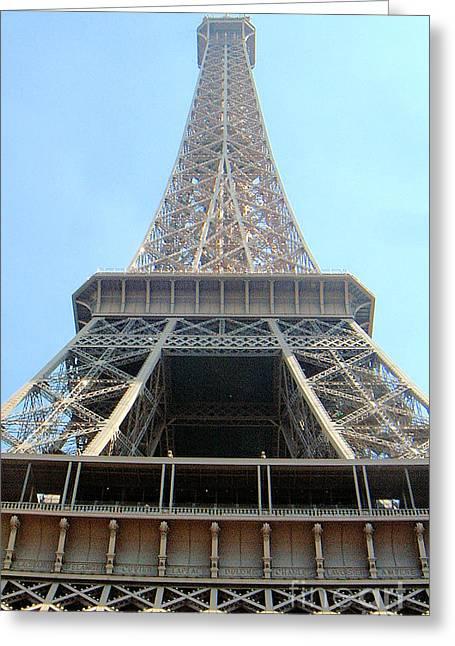Greeting Card featuring the digital art Eiffil Tower Paris France  by Linda Shackelford