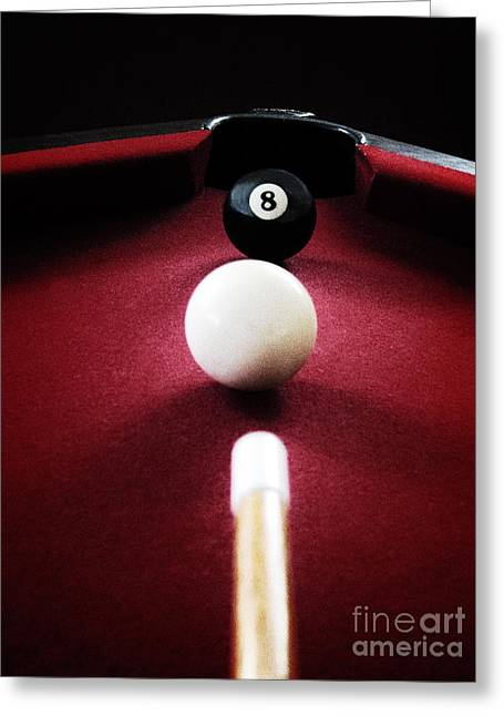 Eight Ball Greeting Card