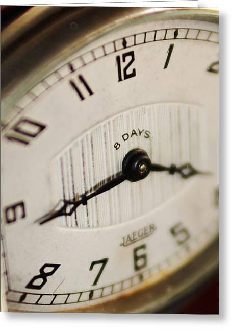 Eight Days A Week Clock Greeting Card