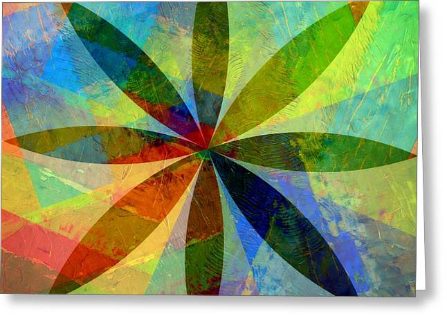Greeting Card featuring the painting Eight Petals by Michelle Calkins
